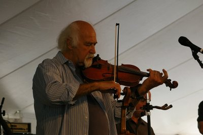 Michael Doucet of BeauSoleil fiddles away at the Richmond Times-Dispatch Dance Pavilion
